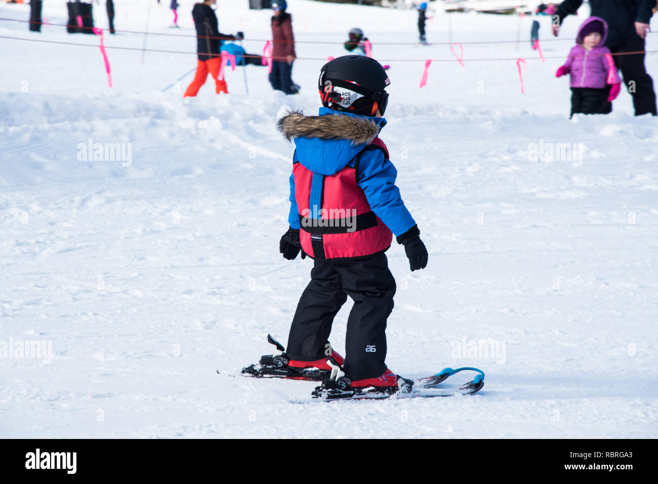 Skiing at Park City Ski Resort. - Stock Image