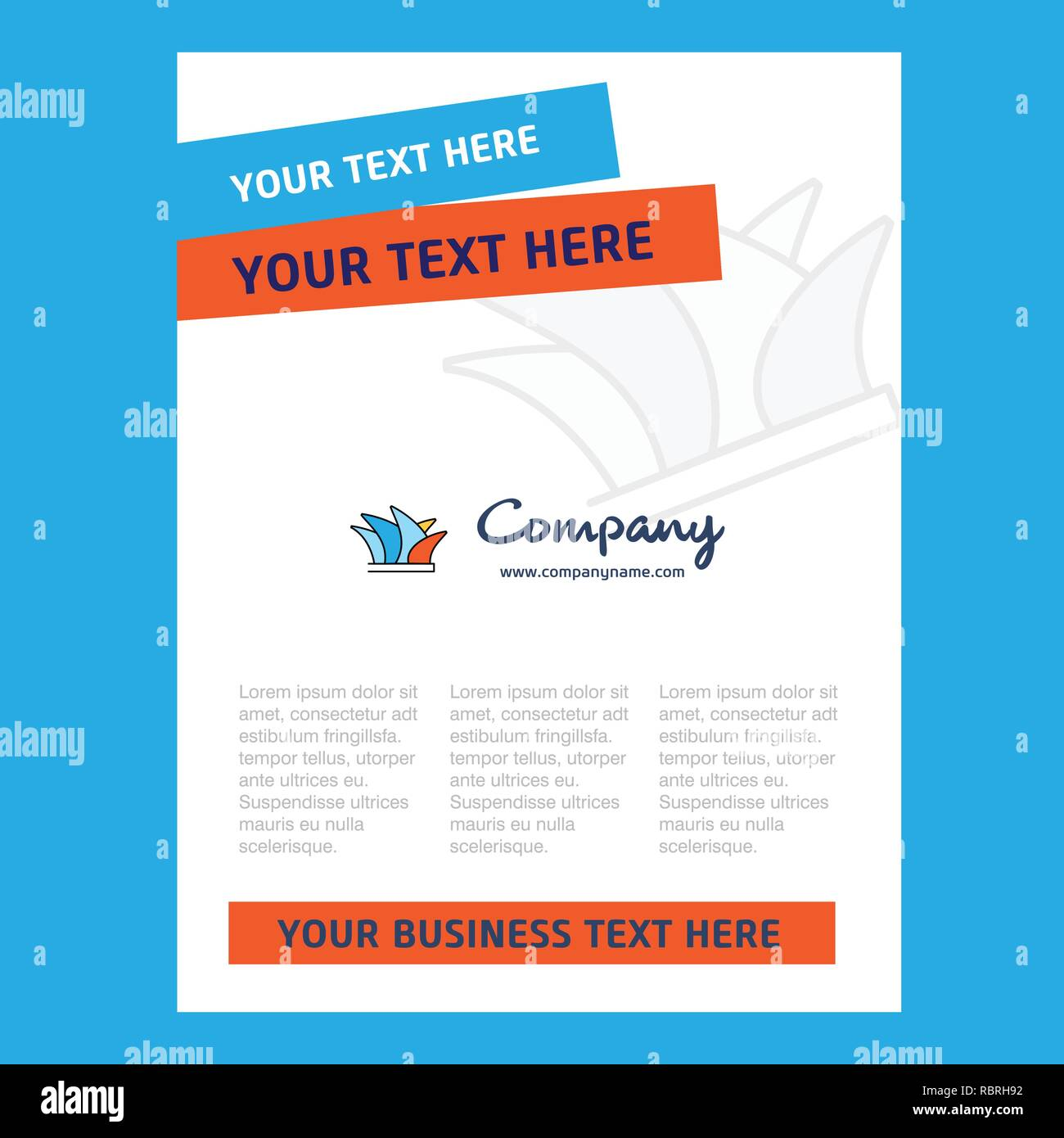 Sydney Title Page Design for Company profile ,annual report