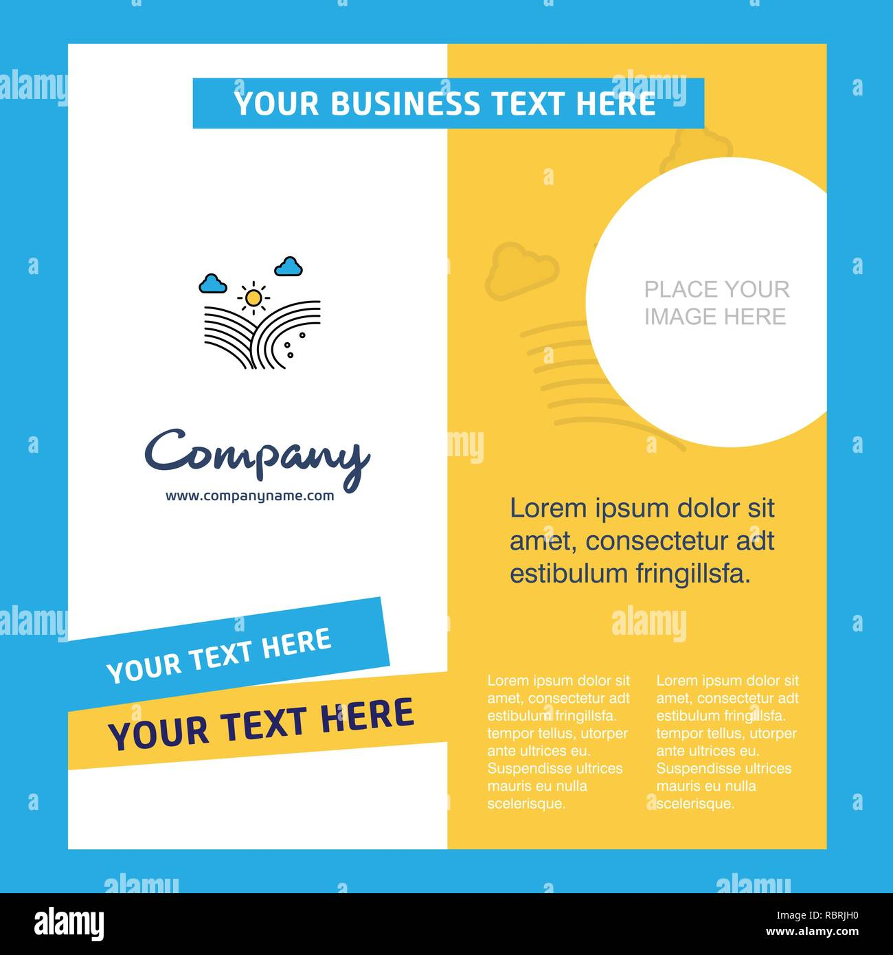 Wind blowing  Company Brochure Template. Vector Busienss Template - Stock Vector