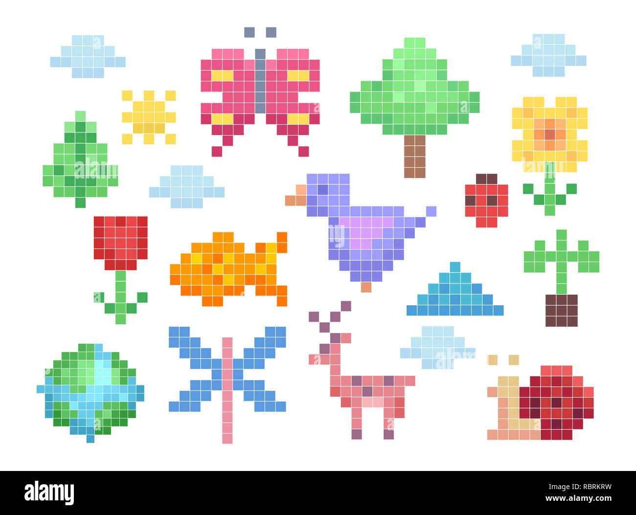 Pixel Art Animals Stock Photos Pixel Art Animals Stock