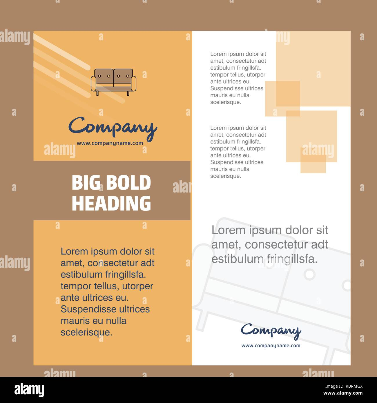 Couch Company Brochure Title Page Design  Company Profile  Annual Report  Presentations  Leaflet