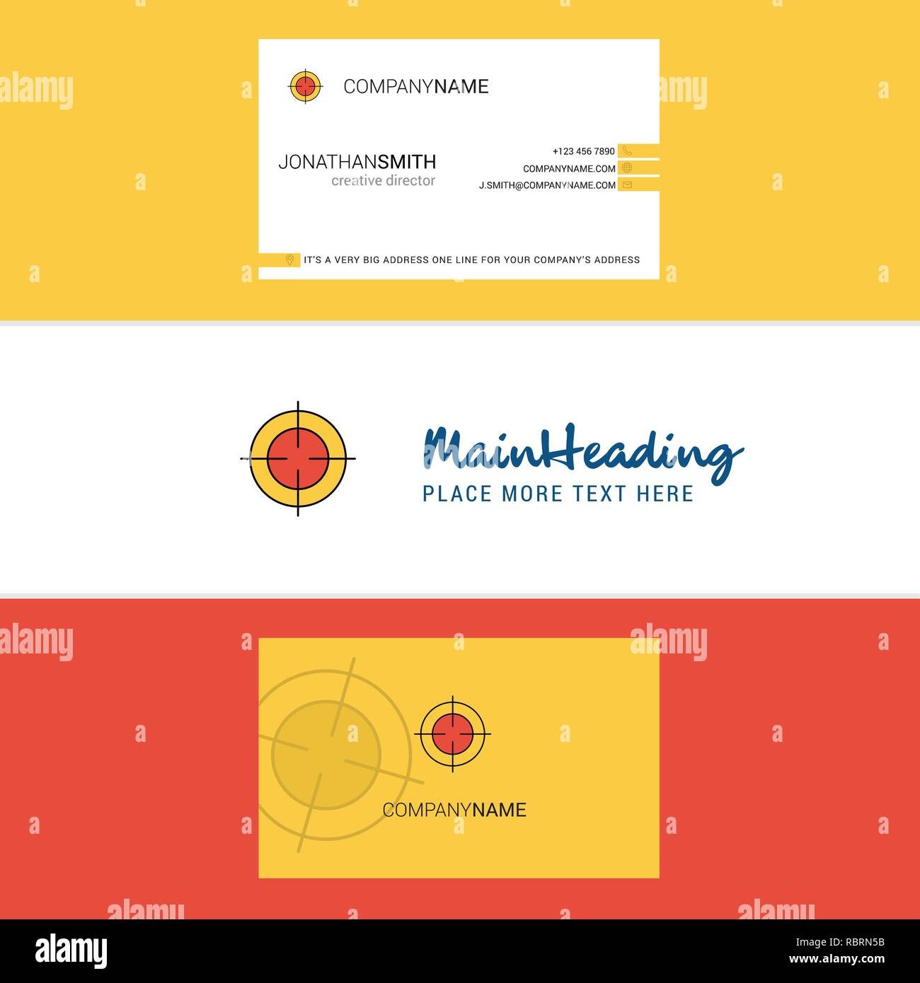 Beautiful Focus  Logo and business card. vertical Design Vector - Stock Vector