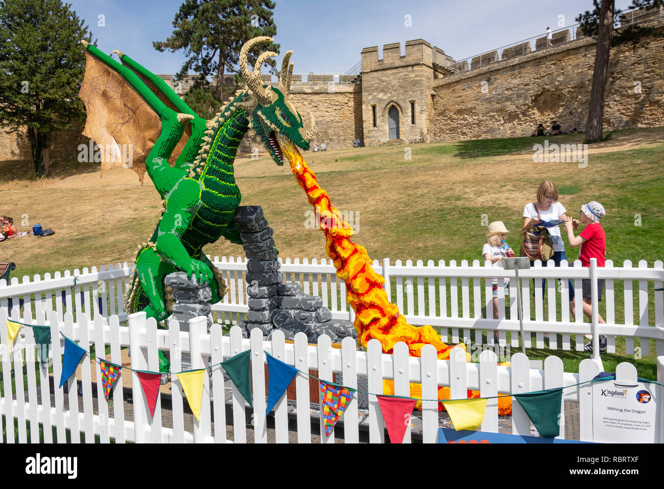 Kingdom Lego Dragon Exhibit In Grounds Of Lincoln Castle Lincoln