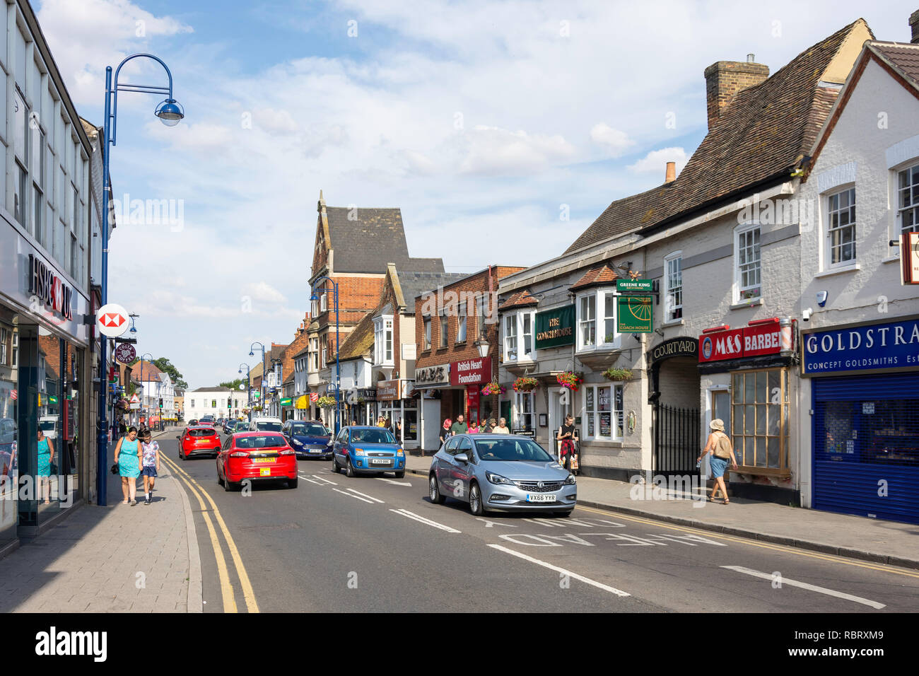 High Street, St Neots, Cambridgeshire, England, United Kingdom - Stock Image