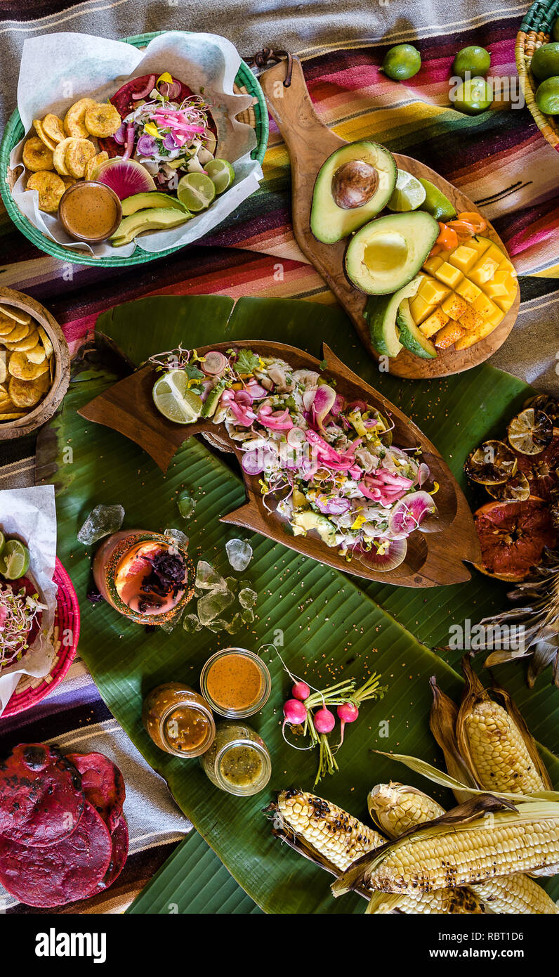 Mexican Food Spread ready for a Party - Stock Image