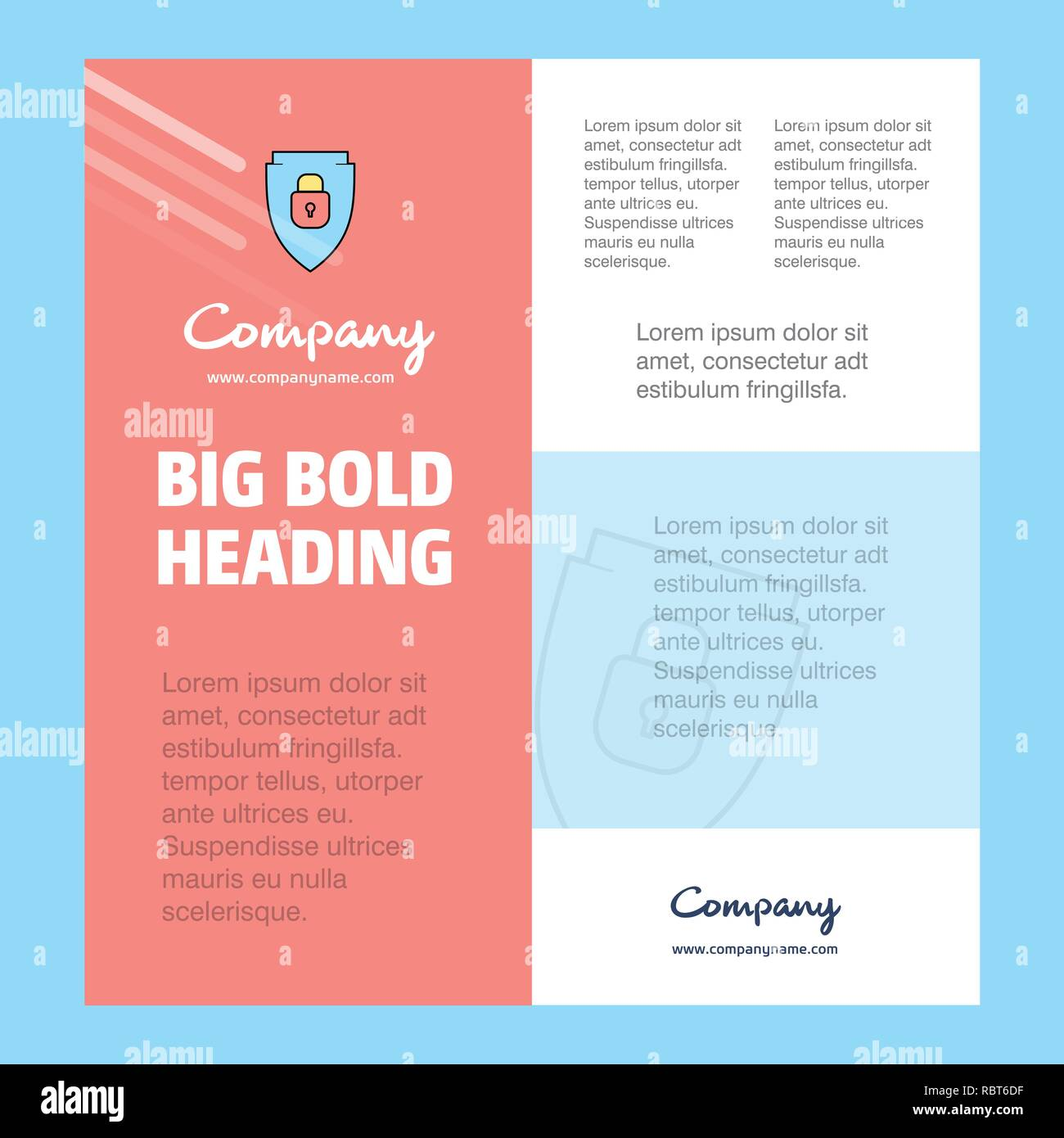 Protected shield Business Company Poster Template  with