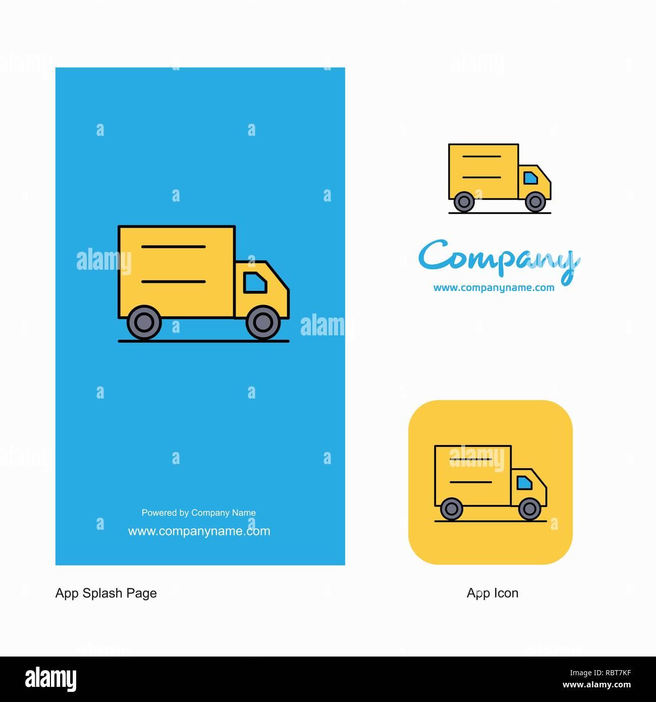 Truck Company Logo App Icon and Splash Page Design  Creative