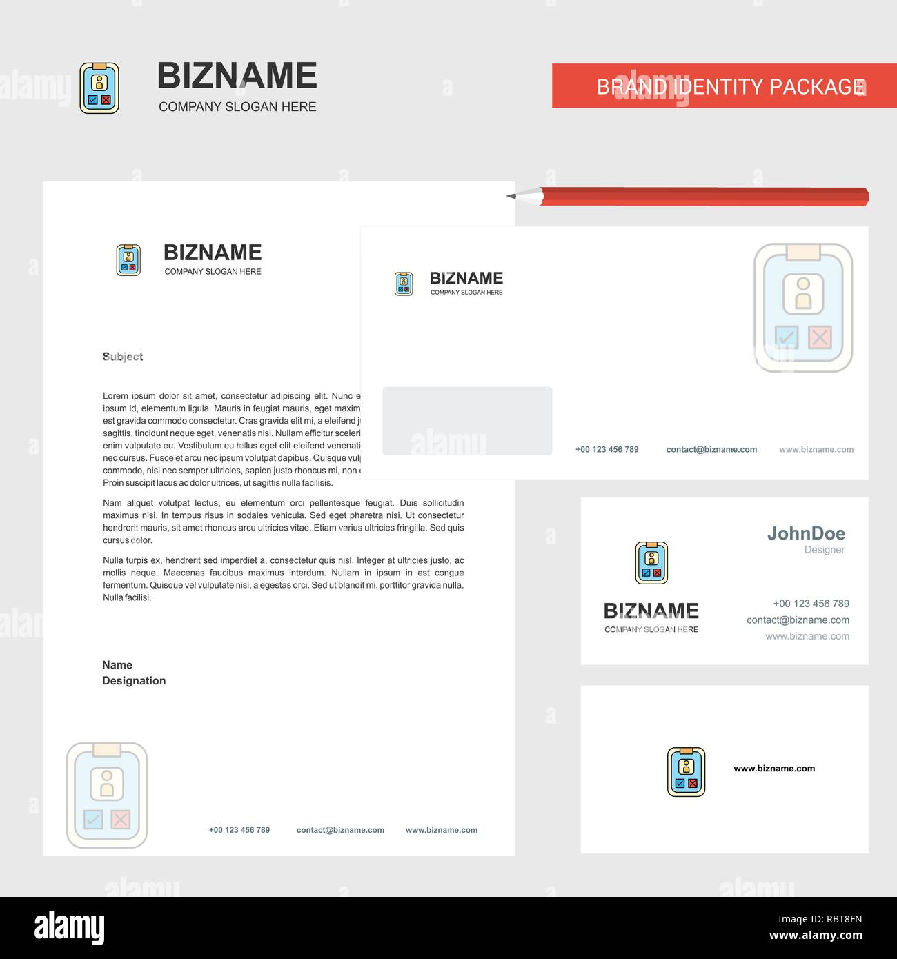 Social Media User Profile Business Letterhead Envelope And Visiting