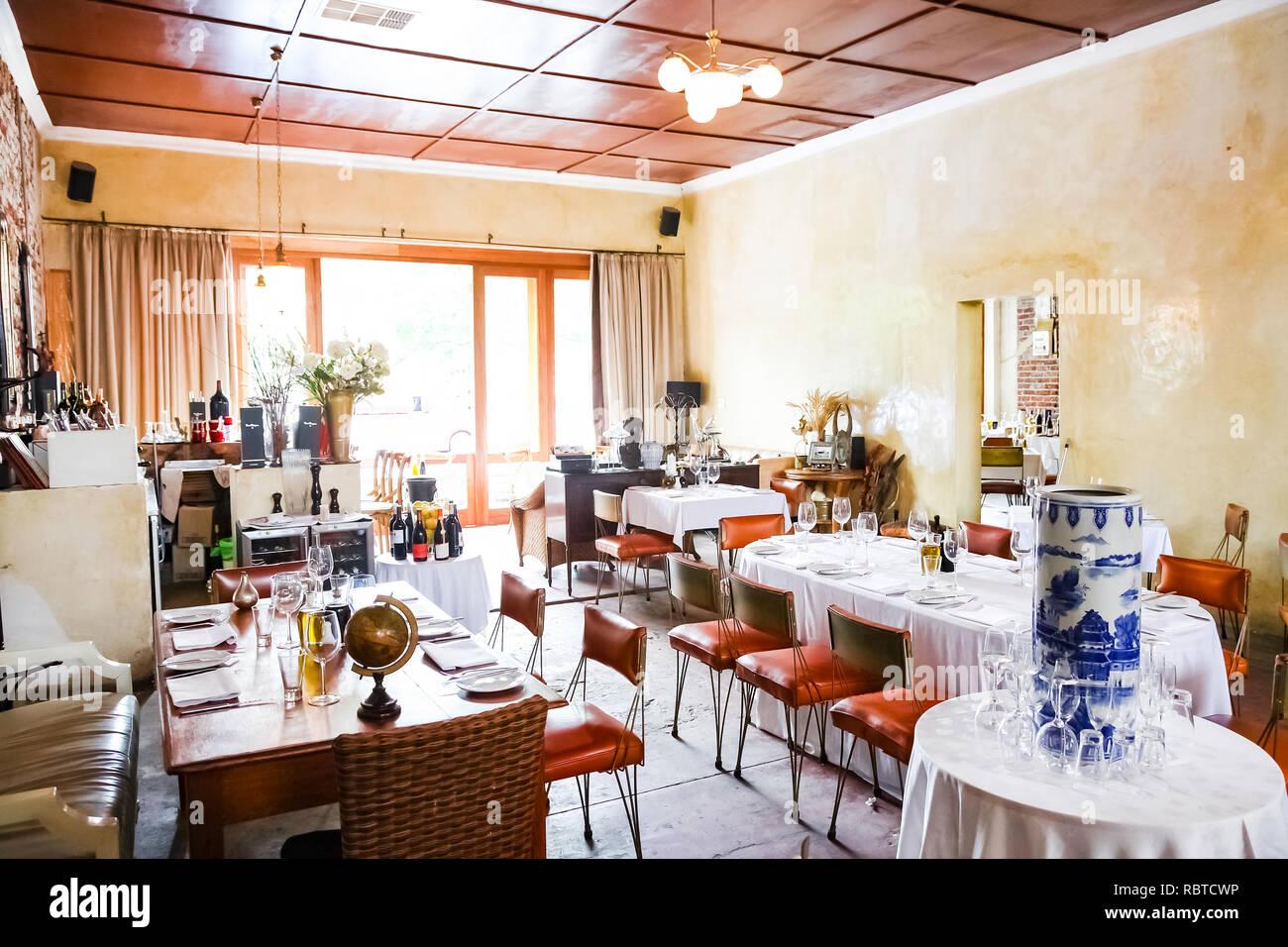 Johannesburg, South Africa - February 21 2011: Interior of Retro ...