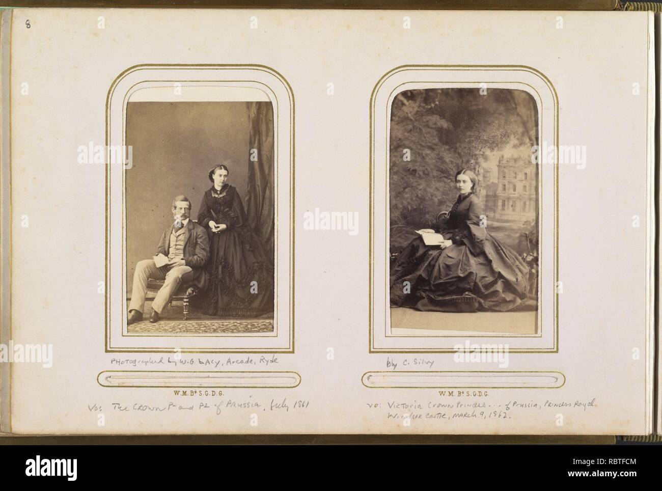 Carte De Visite Album Of British And European Royalty