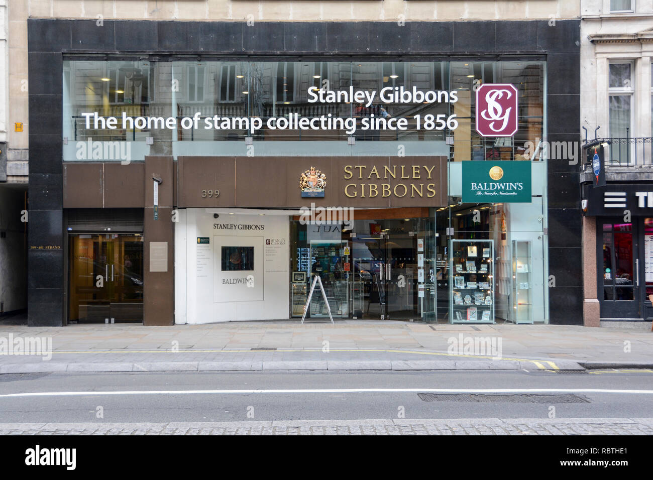 Stanley Gibbons, The Strand, London, WC2, UK - Stock Image