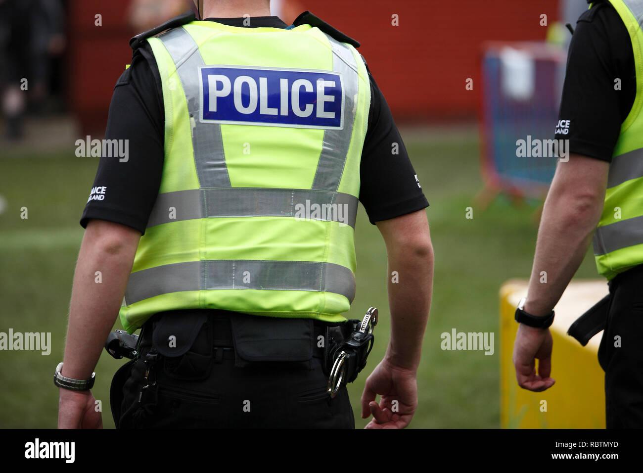 policemen at the Scottish Highland Games Stock Photo