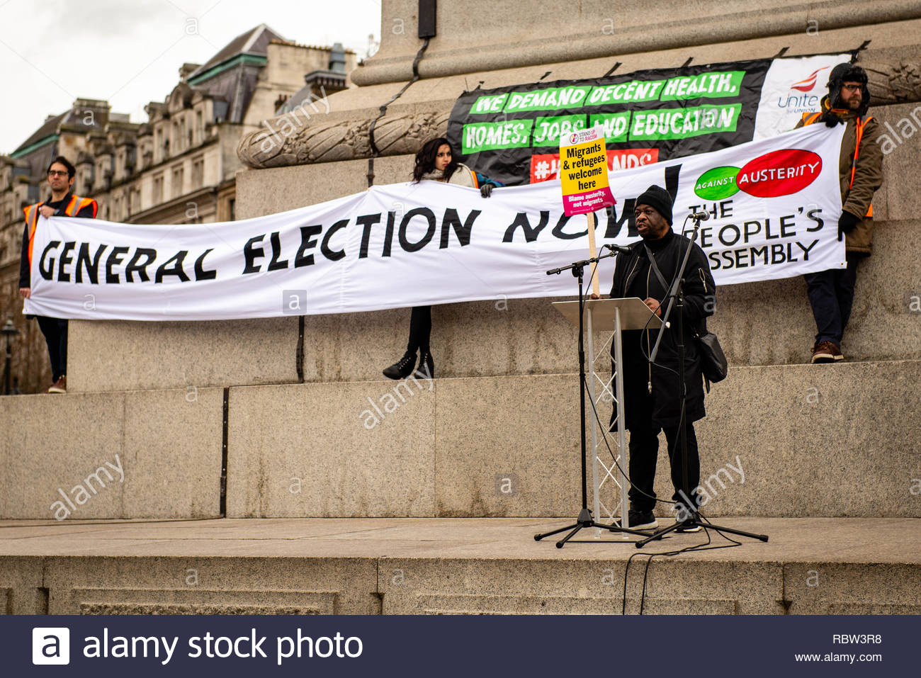 London, UK. 12th January, 2019. People from all over the Uk come to London to call for an end to austerity, and for a General Election. London, Great Britain, 12 Jan 2019  Credit: David Nash/Alamy Live News - Stock Image