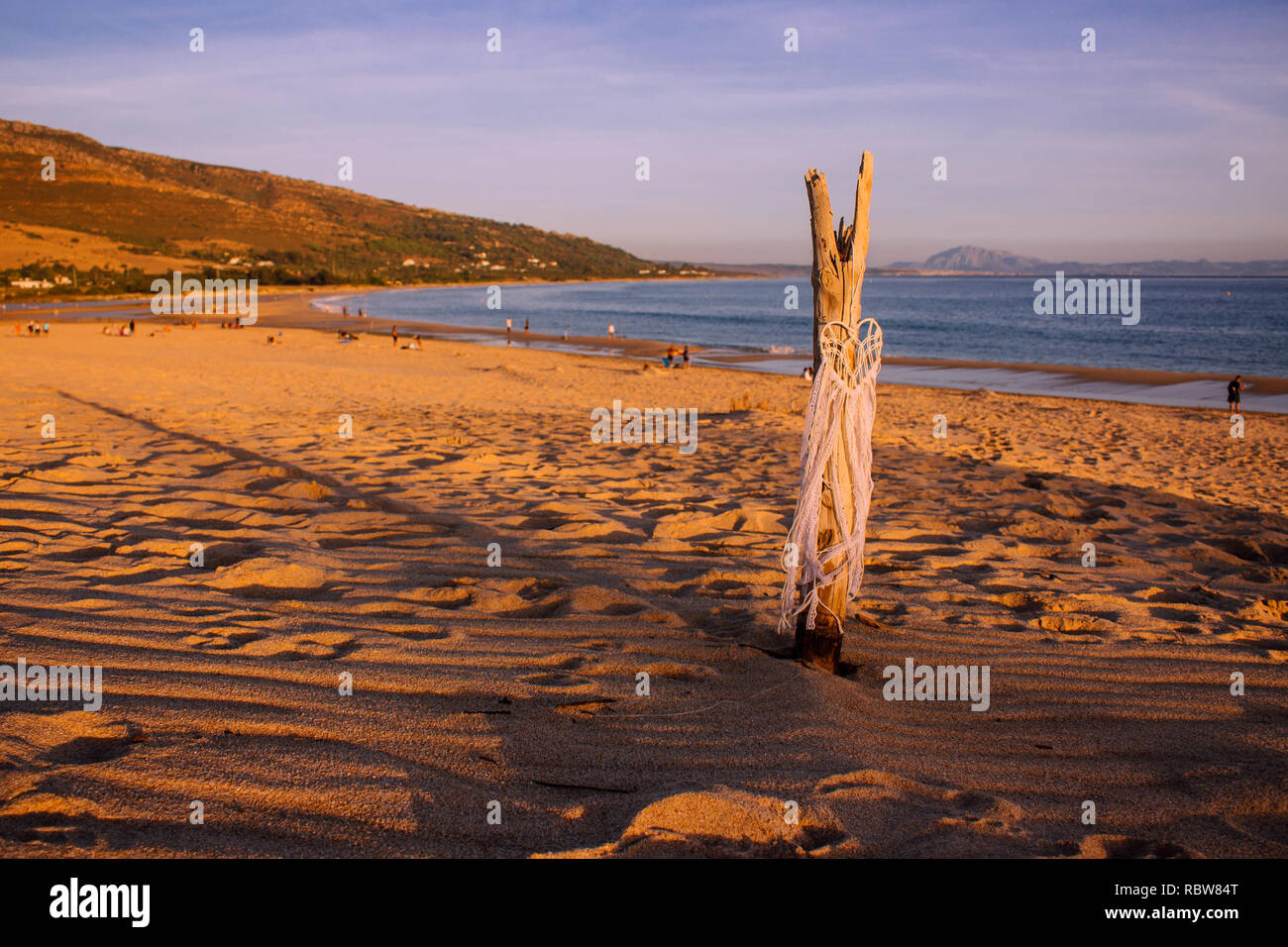 "Dreamcatcher on the beach. ""Punta Paloma"" beach. Atlantic ocean, Tarifa, Andalusia, Spain. - Stock Image"