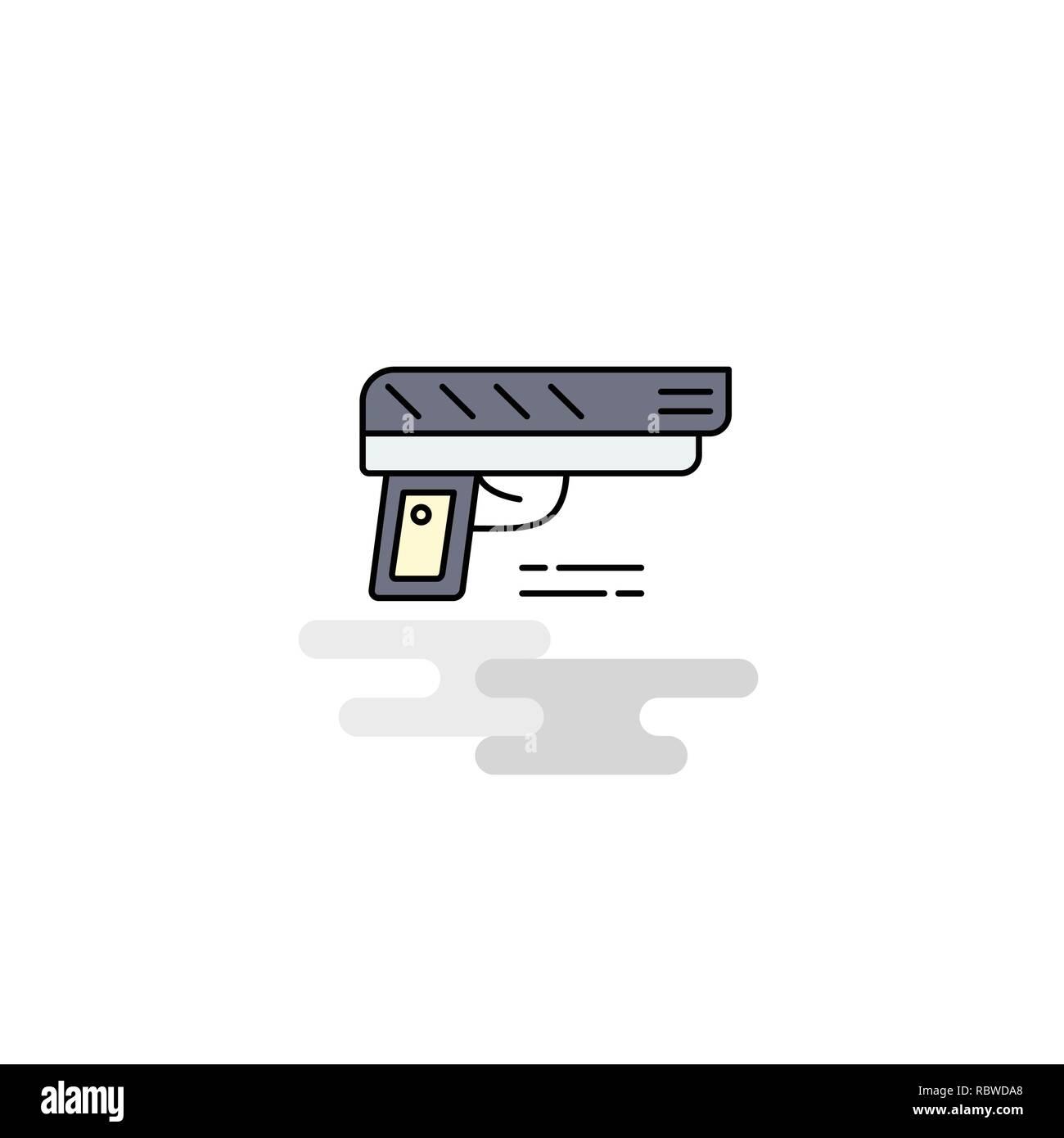 Flat Gun Icon. Vector - Stock Vector