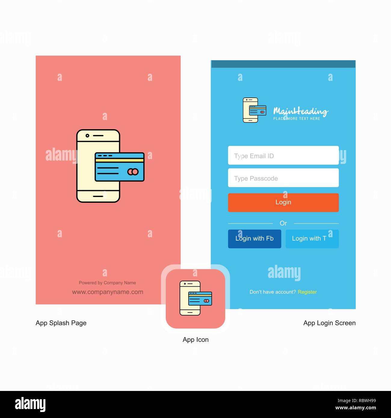Company Online banking Splash Screen and Login Page design
