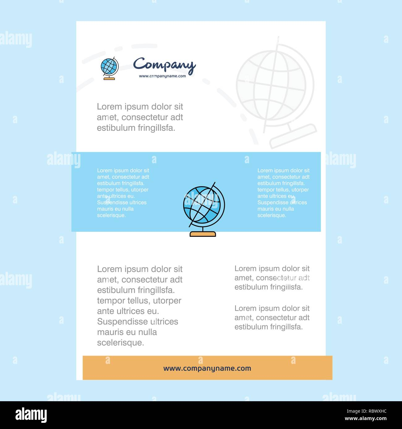 25ed9ae0998d Template layout for Globe comany profile
