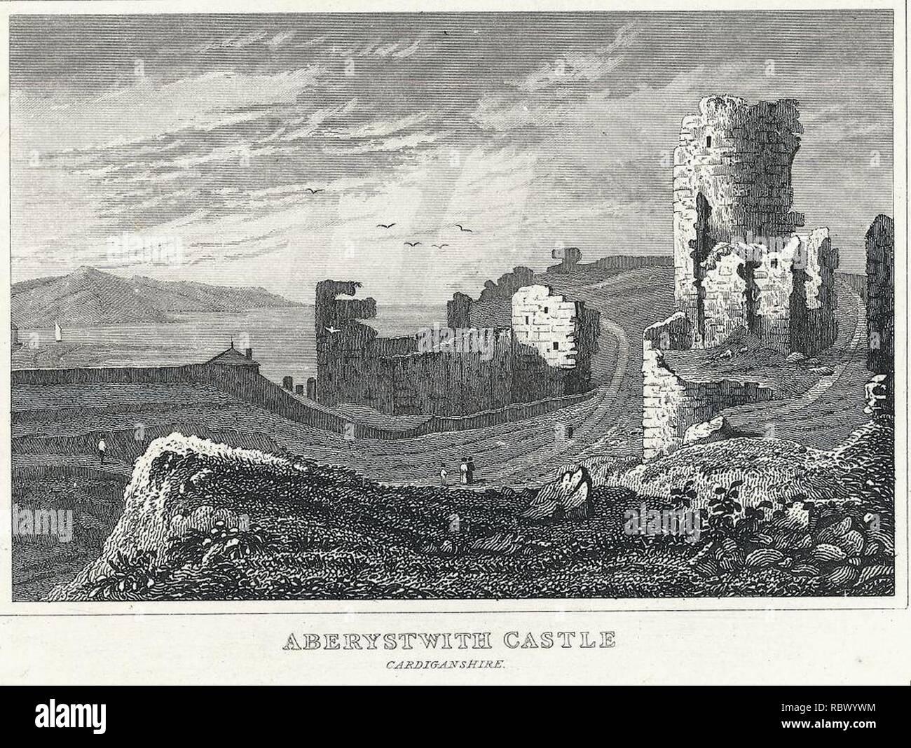 Aberystwith Castle, Cardiganshire (1130749). - Stock Image