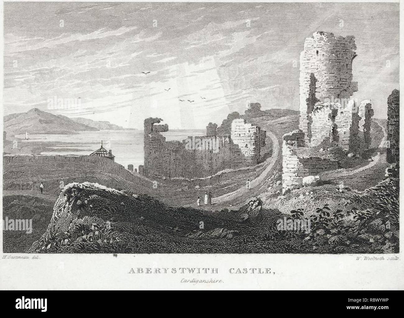 Aberystwith Castle, Cardiganshire (1133002). - Stock Image