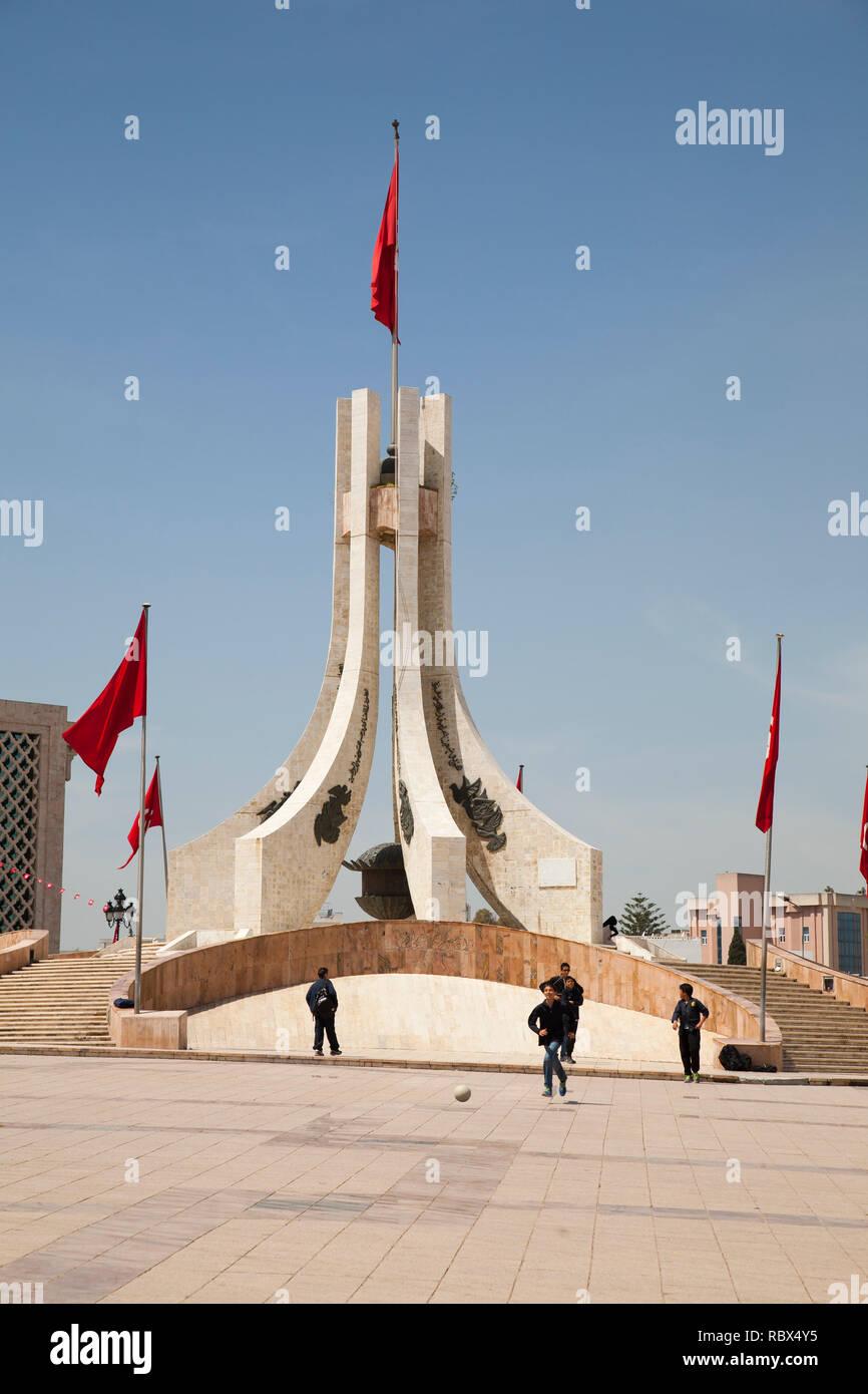 National Monument, Place de la Kasba, Tunis, Tunisia, Africa Stock Photo