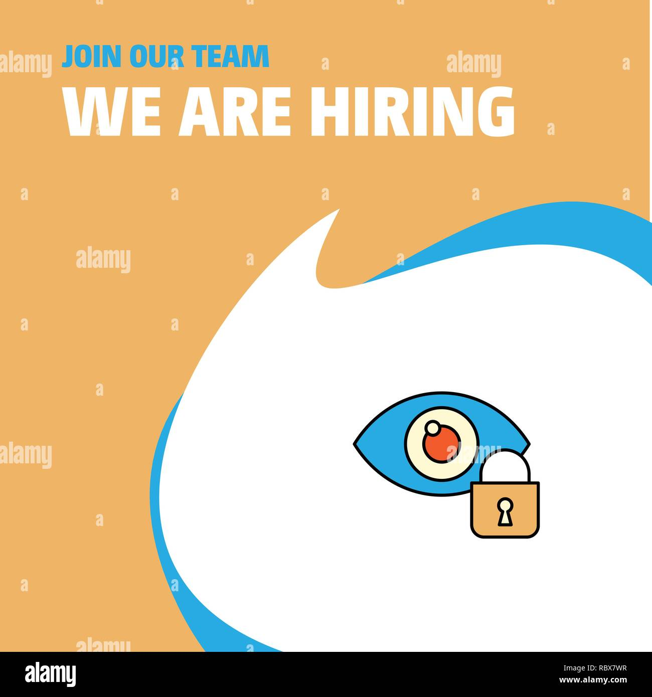 Join Our Team Busienss Company Eye Locked We Are Hiring Poster
