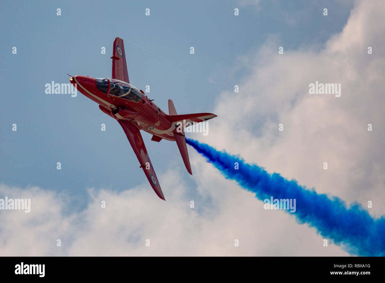 Red arrows displaying at the RIAT 2018 - Stock Image