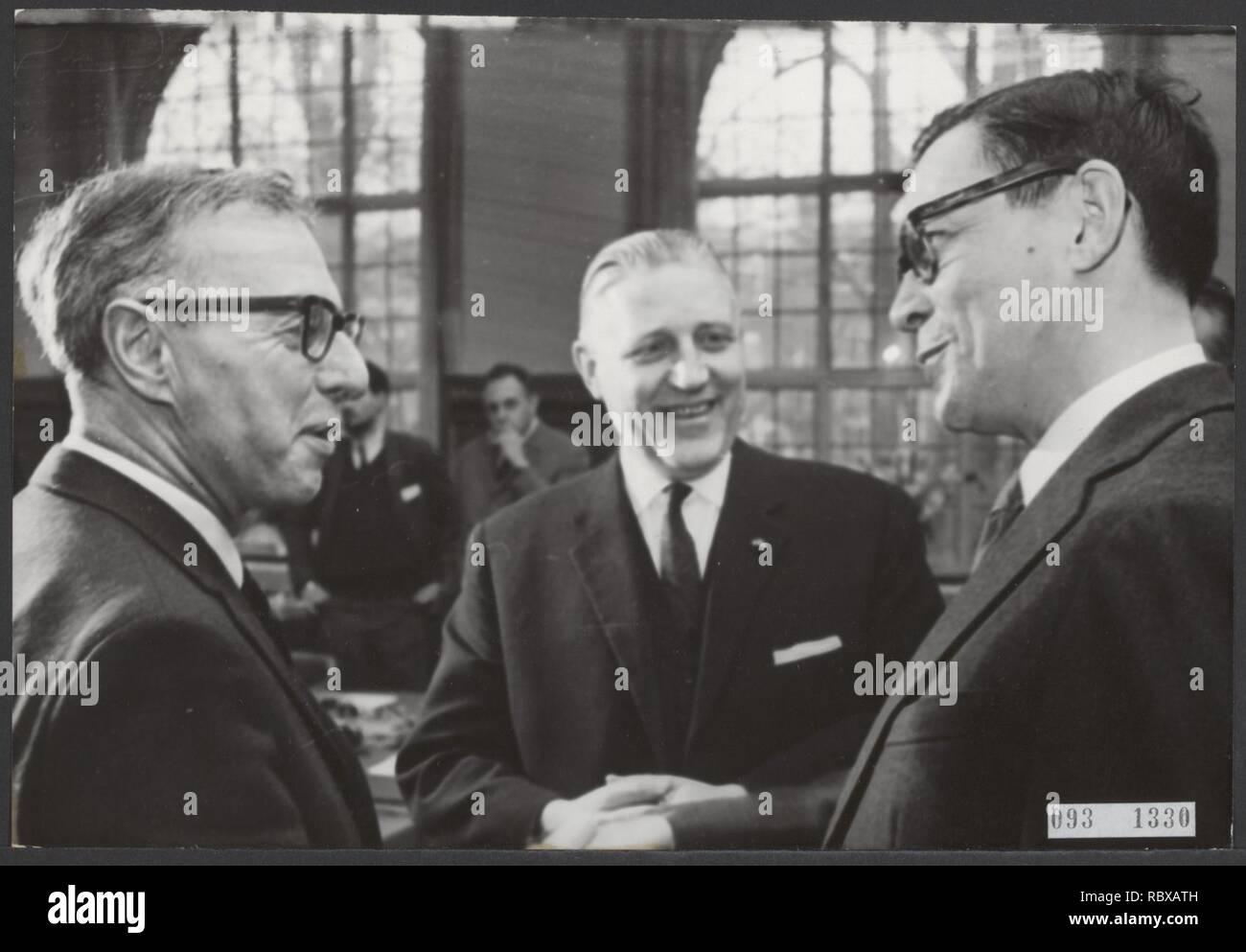 Activiteiten minister van financien zijlstra in 1966 1967, Bestanddeelnr 093-1330. - Stock Image
