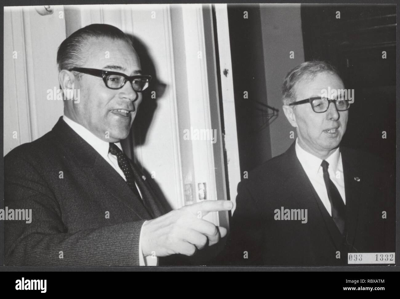 Activiteiten minister van financien zijlstra in 1966 1967, Bestanddeelnr 093-1332. Stock Photo