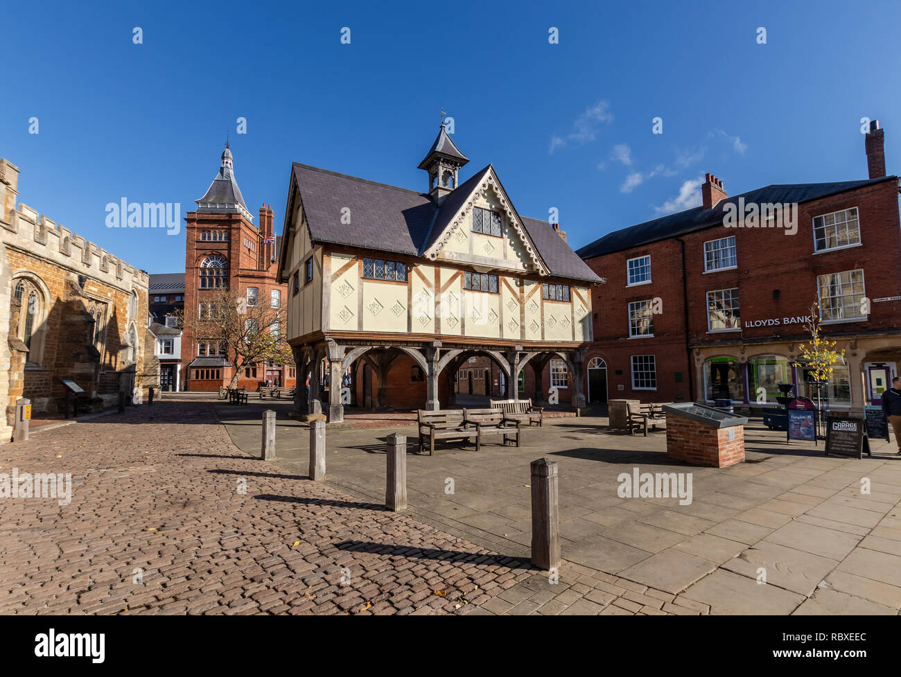 The Old Grammar School, Church Square, Market Harborough, Leicestershire, England, United Kingdom - Stock Image