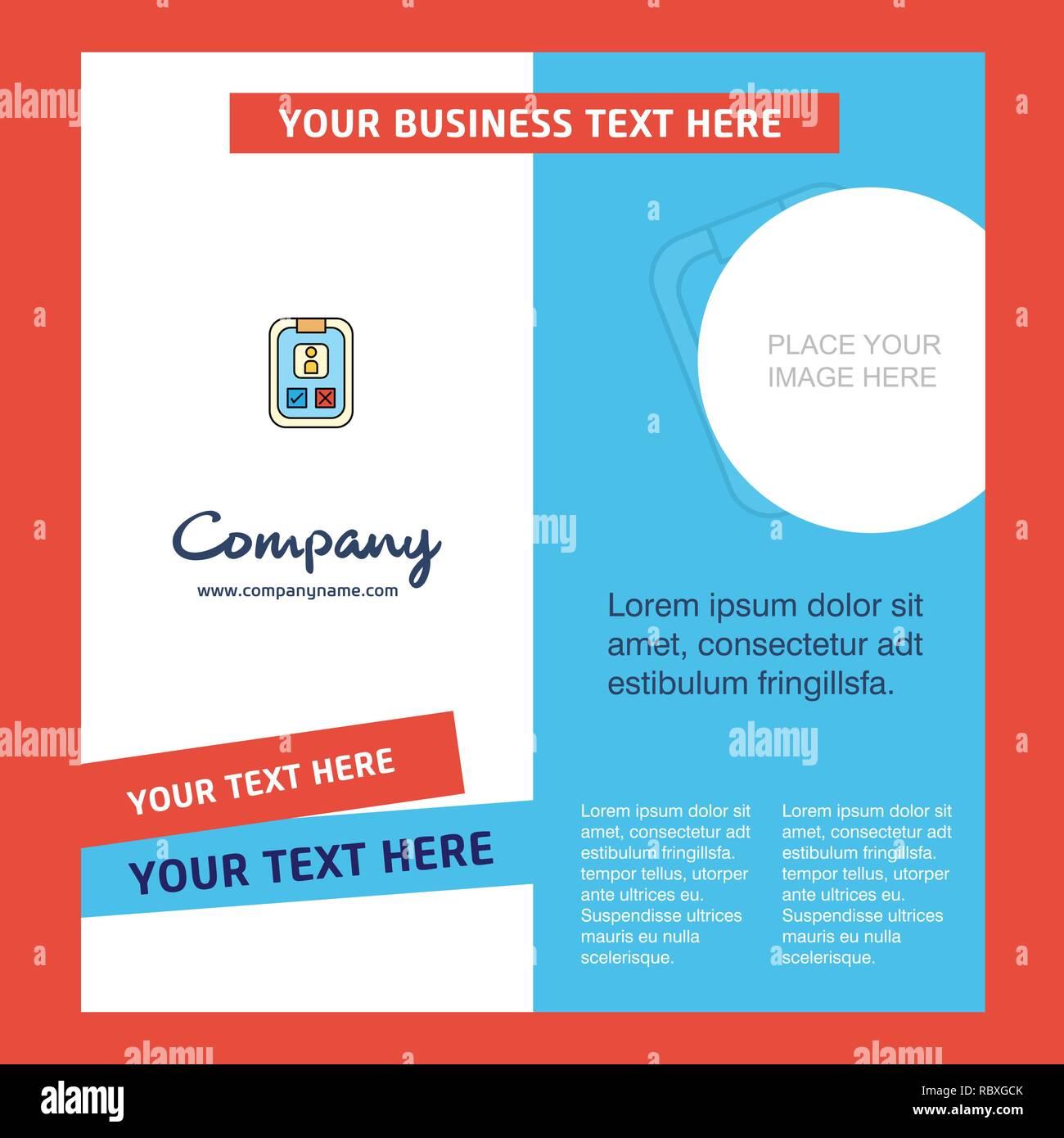 Social Media User Profile Company Brochure Template Vector Busienss