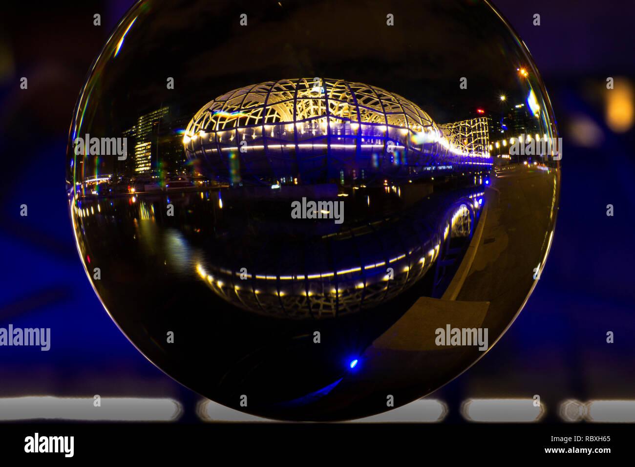 Webb Bridge docklands Melbourne Australia - Stock Image