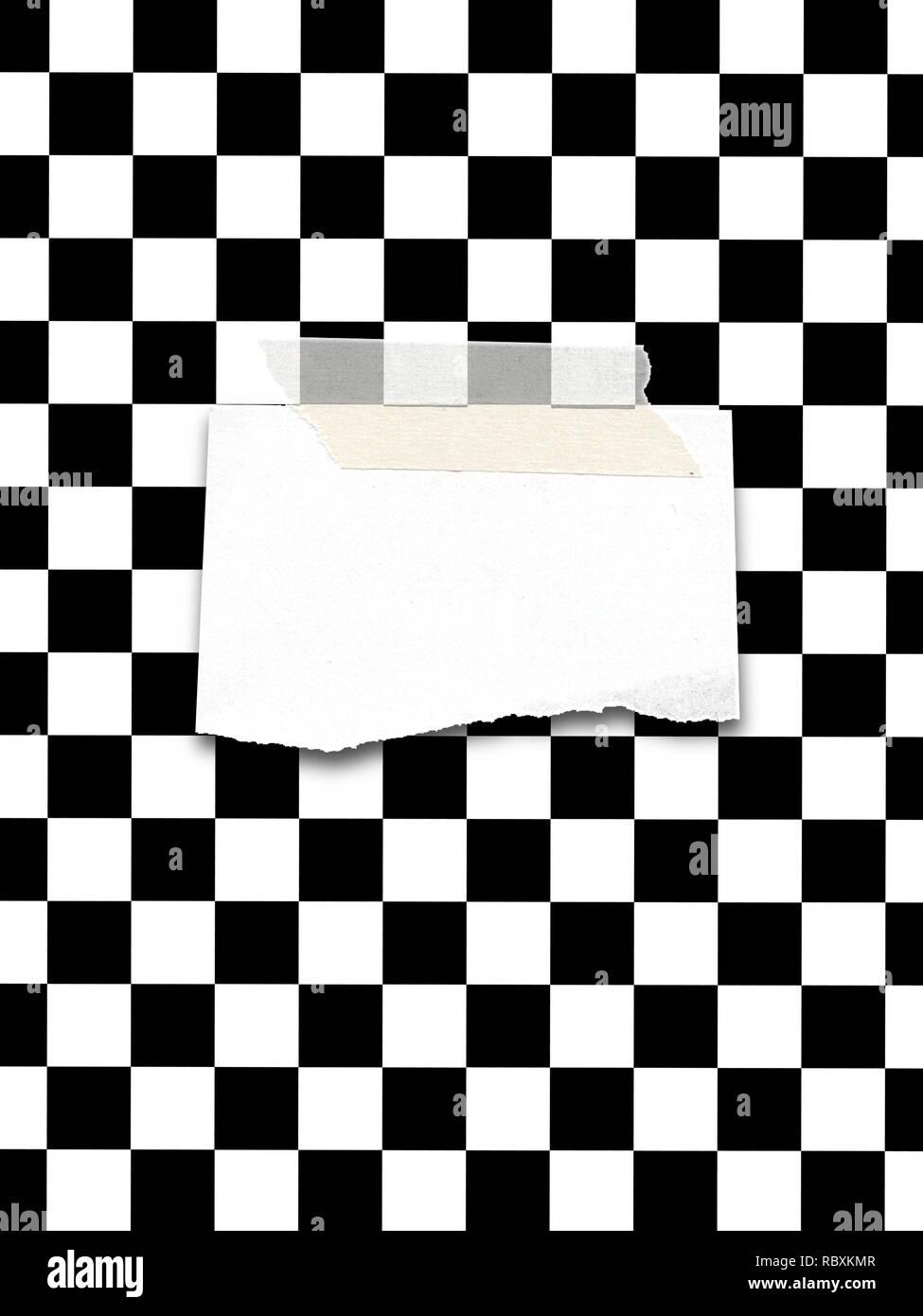 Black White Checkered Picture Frame Stock Photos Black White