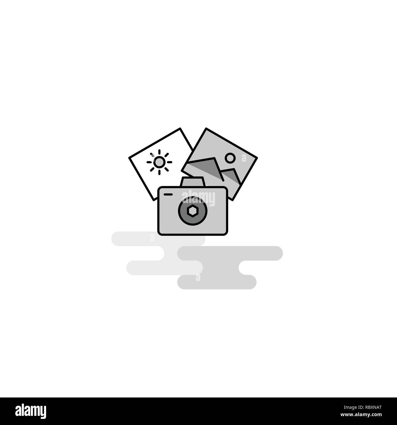Photography  Web Icon. Flat Line Filled Gray Icon Vector Stock Vector