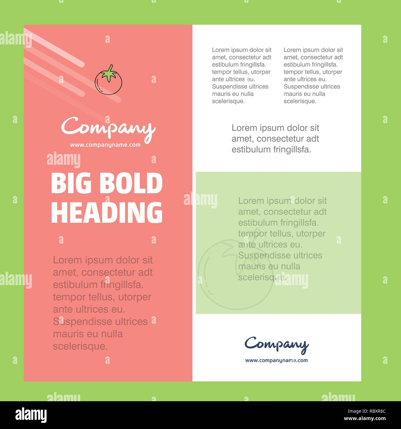 Tomato Business Company Poster Template  with place for text