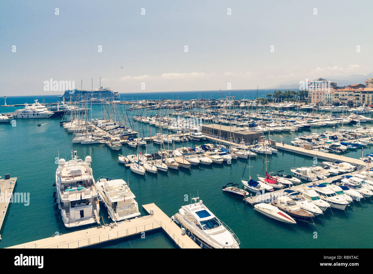 Cannes Beach Boats - Stock Image