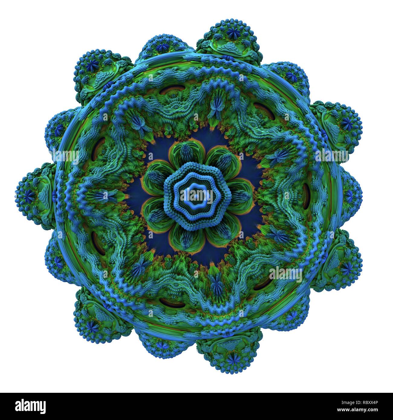 Abstract fractal digital art design 11138 - Stock Image