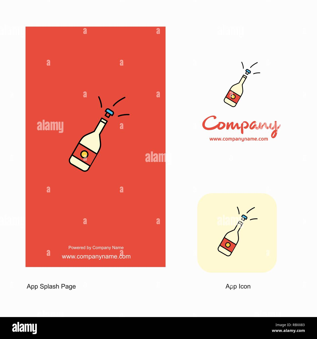 Celebrations drink Company Logo App Icon and Splash Page Design