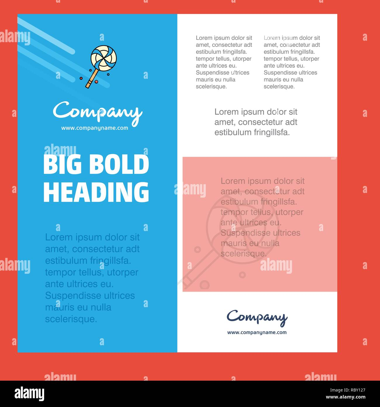 Lollypop Business Company Poster Template. with place for text and images. vector background - Stock Vector