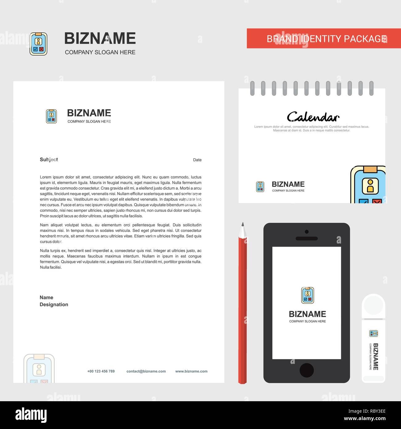 Social Media User Profile Business Letterhead Calendar 2019 And