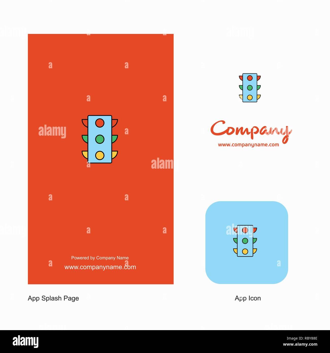 Traffic signals Company Logo App Icon and Splash Page Design