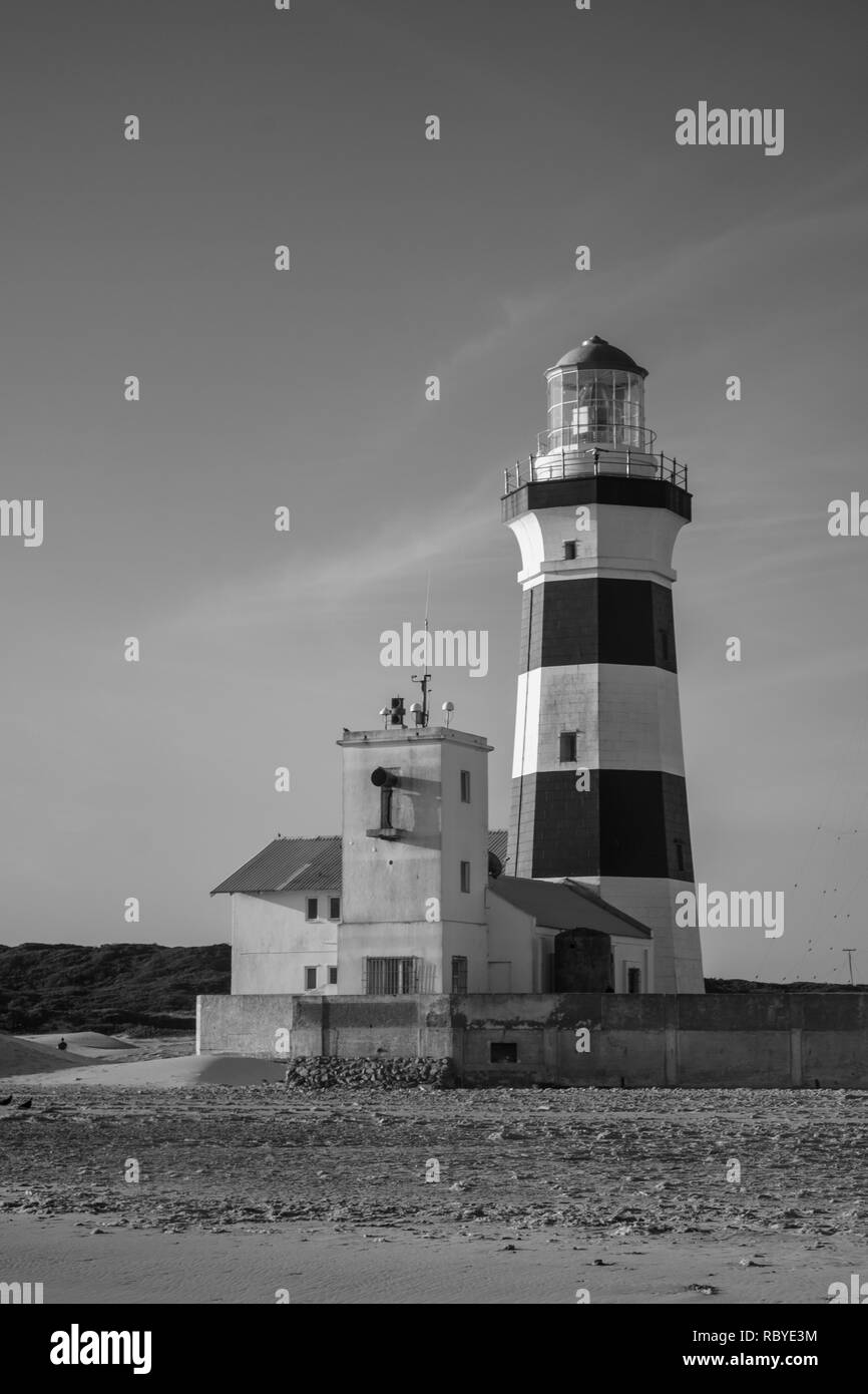Cape Recife Lighthouse, Eastern Cape, South Africa - Stock Image
