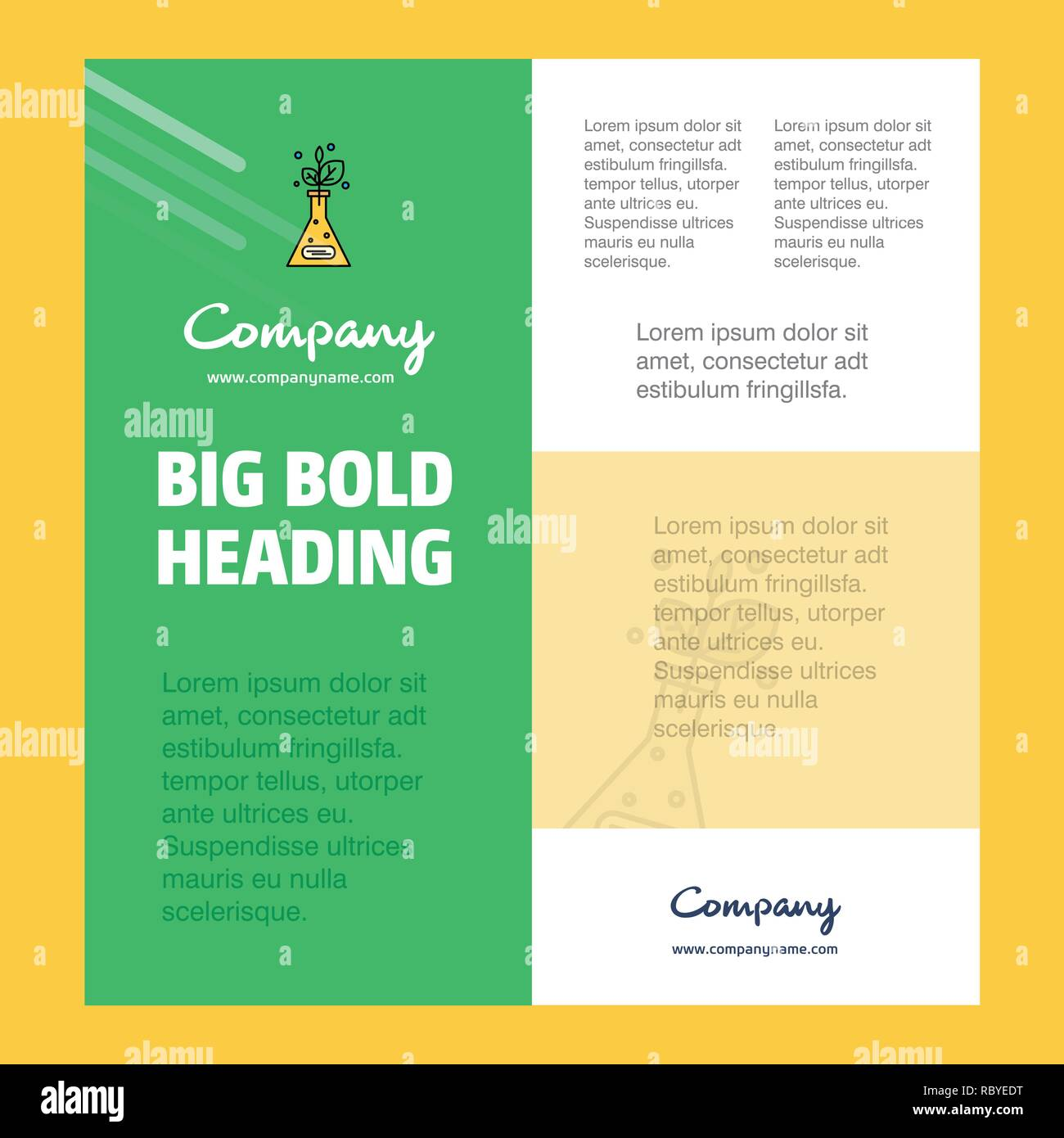 Plant  Business Company Poster Template. with place for text and images. vector background - Stock Vector