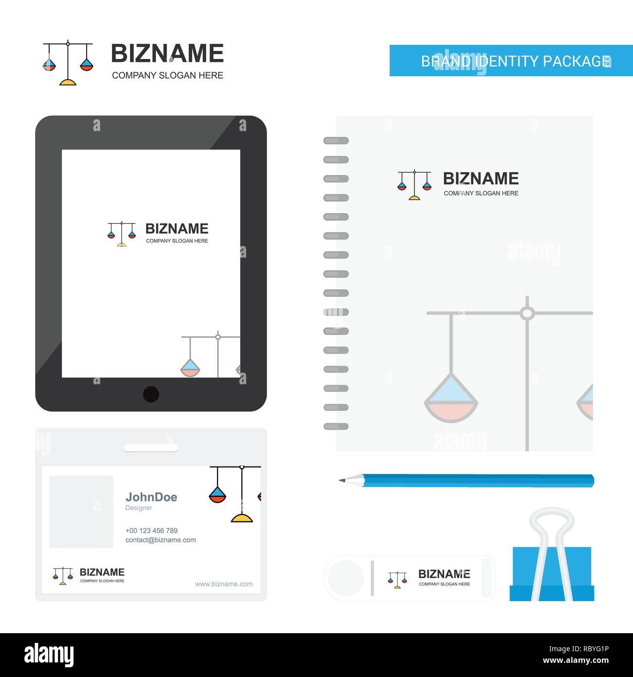 Libra Business Logo, Tab App, Diary PVC Employee Card and