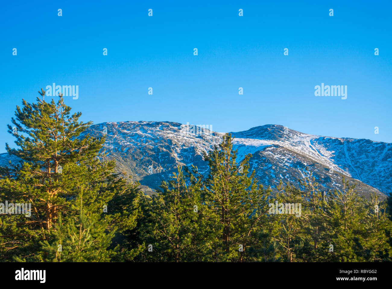 Landscape. Sierra de Guadarrama National Park, Madrid province, Spain. Stock Photo