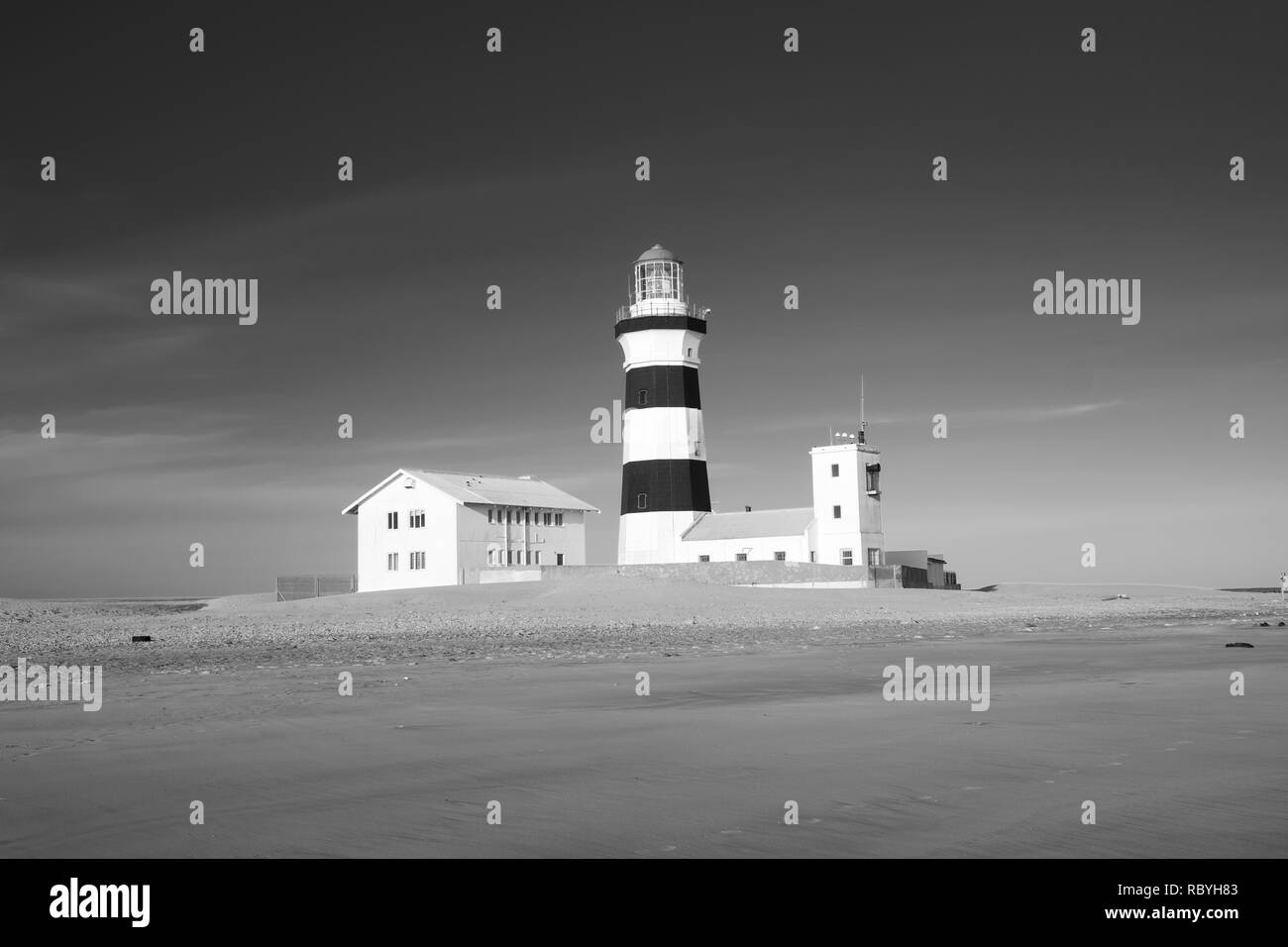 Cape Recife Lighthouse, South Africa - Stock Image
