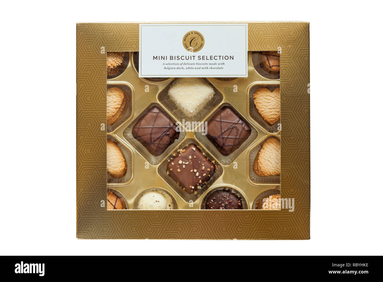 Marks Spencers Box Belgian Chocolate Stock Photos Marks
