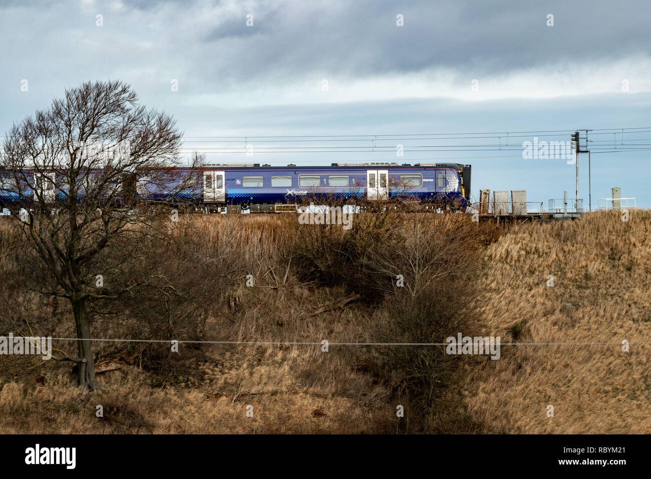 Edinburgh    January  12 2019; General view of Scotrail train.   credit steven scott taylor / alamy live news - Stock Image