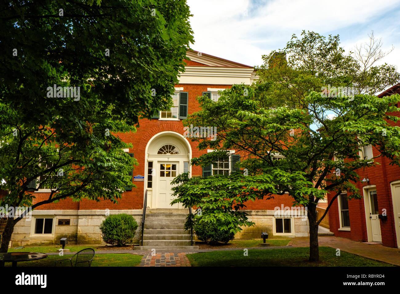 Former Rockbridge County Jail, Courthouse Square, Lexington, Virginia - Stock Image
