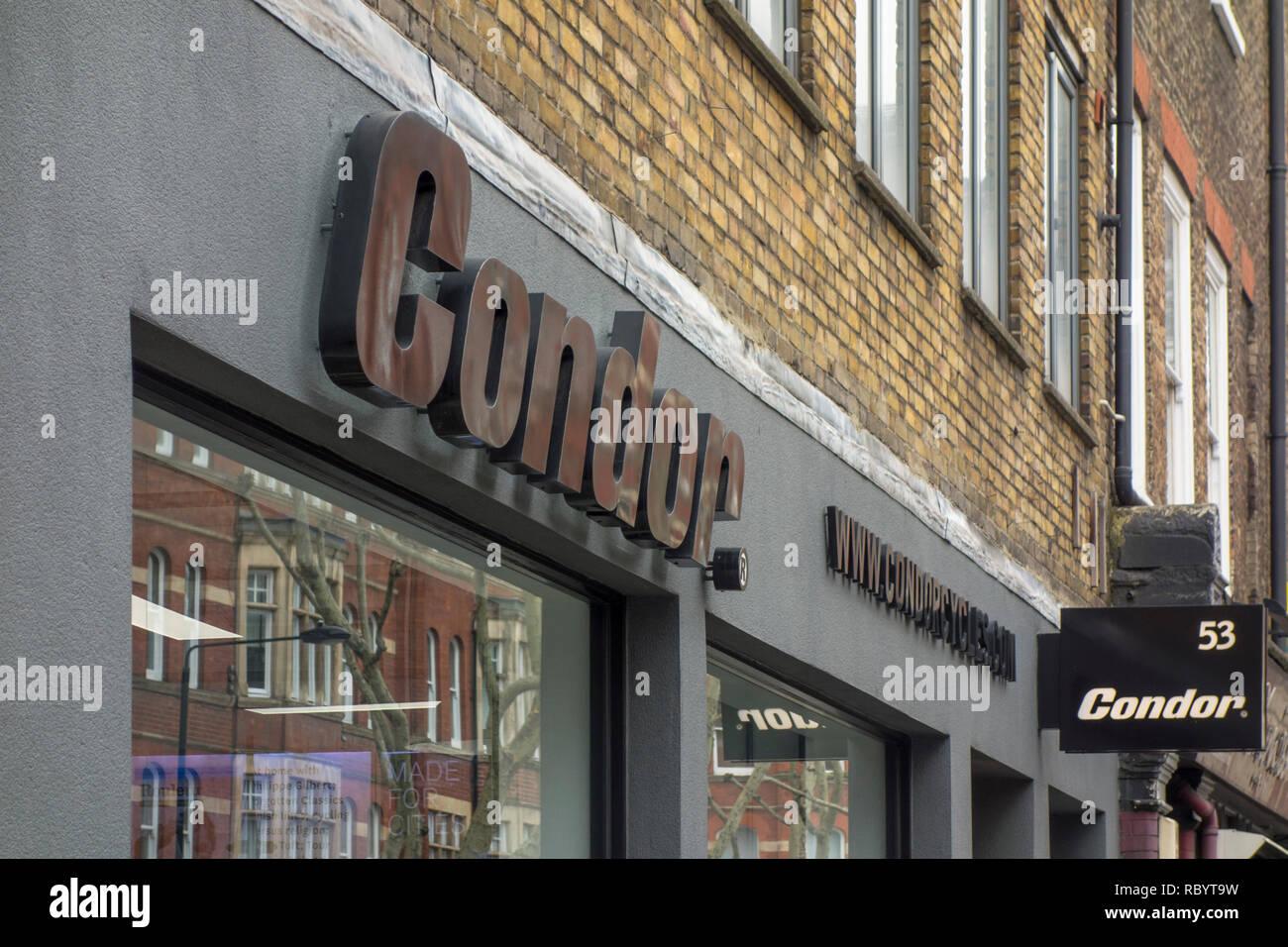 Condor bikes store in London, UK - Stock Image