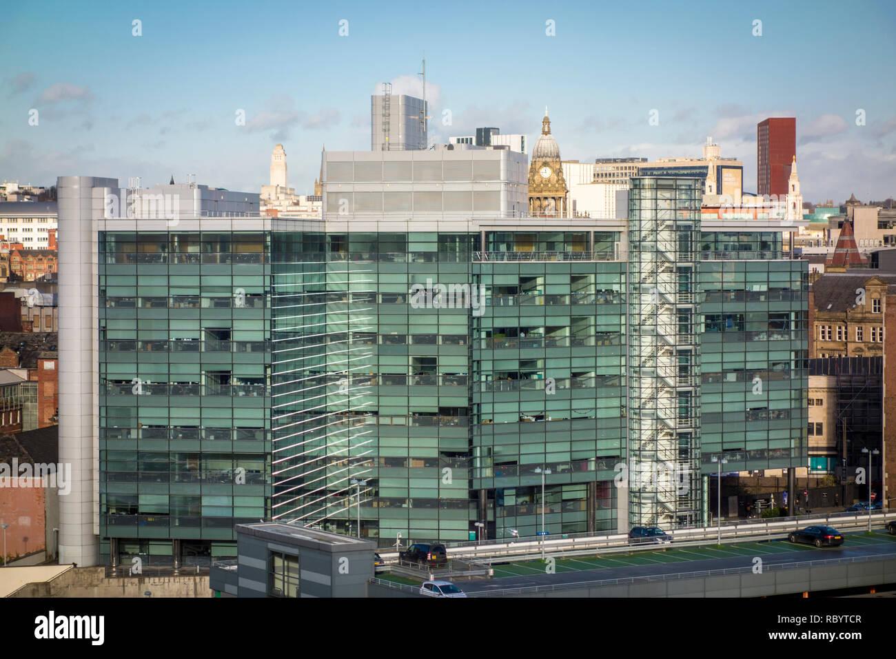Leeds city skyline, West Yorkshire, UK - Stock Image